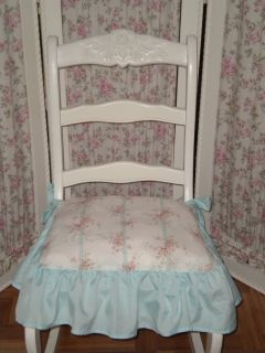 Simply Shabby Chic Chair Pads : Cotton Tiered Ruffled Dining Chair Slipcover