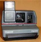 Polaroid Impulse Instant Camera w/ pop up flash/nylon strap,Good