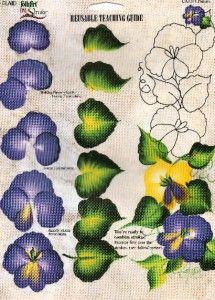 donna dewberry reusable teaching guide rtg pansies oop
