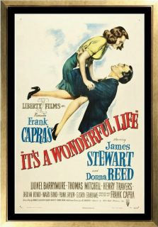 Movie Poster Its A Wonderful Life James Stewart Donna Reed