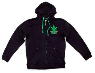 DGK Skateboards Stay Smokin Black Zip Hoody Sweatshirt Size Extra