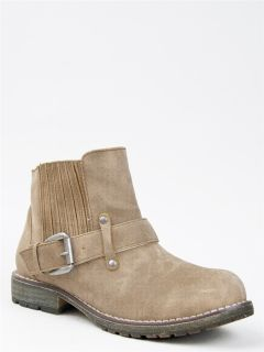 New Dirty Chinese Laundry Rerun Women Distress Ankle Booty Boot Beige