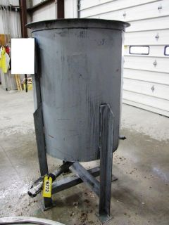 125 Gallon Stainless Steel Tank Open Top 30 Diameter