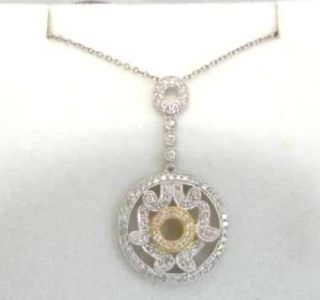 Diamond Circle Pendant Necklace Dangle Pendant Brand New Priced to