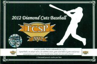 2012 TRI CITY SPORTS DIAMOND CUTS BASEBALL BOX PACK 2 CARDS BOX