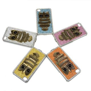 Sliver Glitter Bling Diamond Owl Hard Case Cover for iPhone 4 4S 4G