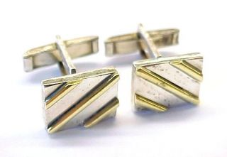 Plated Sterling Silver Mens Cufflinks Mexico 11 5mm x 14 5mm