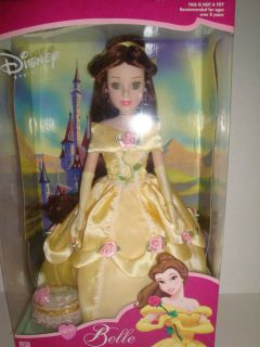 DISNEY PORCELAIN PRINCESS BELLE KEEPSAKE DOLL BRASS KEY COLLECTION