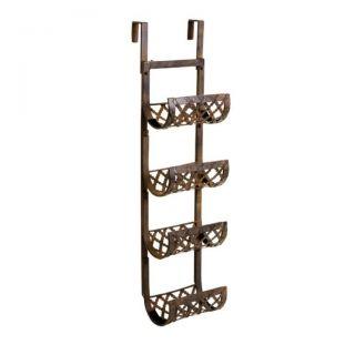 Over The Door Towel Wine Rack Holder Bathroom 36H Wrought Iron New 0
