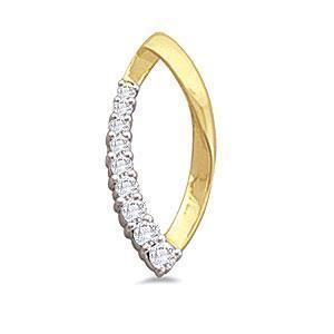 Diamond Jewelry Round Cut 14Kt Yellow Gold Fashion Pendant Necklace