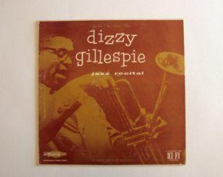 Dizzy Gillespie Jazz Recital Norgran Records Wade Legge Hank Mobley