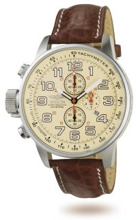 New 2772 Invicta Men Watch Brown Band Stainless Steel Case