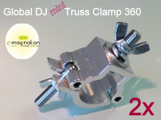 2x Global DJ Mini Truss O Clamp 360 Wrap Around par 64 American