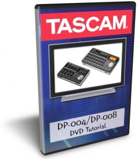 Tascam DP 004 DP 008 DVD Video Training Tutorial Help