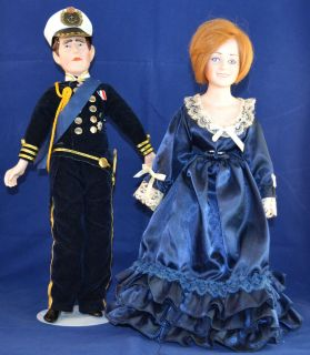 Diana Prince Charles Porcelain Stuffed Dolls Collector Dolls Royalty
