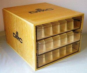 DMC Thread Floss Wooden Display Box Embroidery Storage
