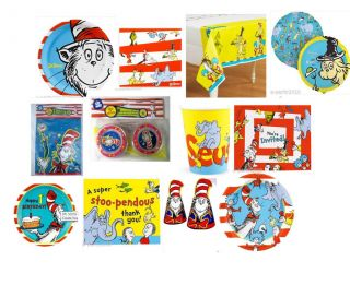 Dr Seuss Cat in The Hat Birthday Party Supplies Create Your Set BX