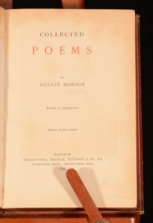 1897 Collected Poems by Austin Dobson Letter Frontispiece First
