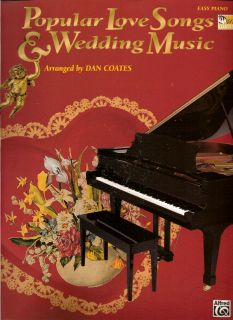Popular Love Songs Wedding Music Easy Piano Song Book