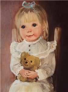 Adorable Little Girl with Teddy Bear by Dianne Dengel Rochester N Y