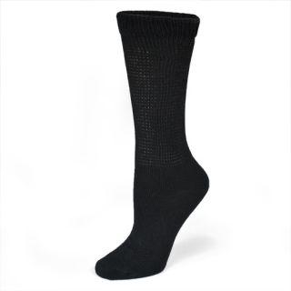 Dr Scholls Womens Socks Health Strides Black Crew 2P