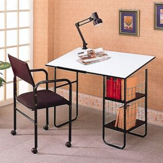 New Drafting Table Desk with Lamp and Chair Combo Set