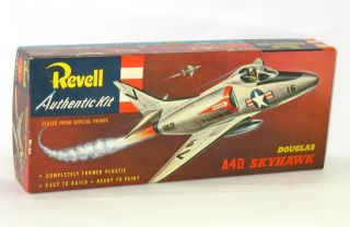 Vintage Revell H 232 Douglas A4D Skyhawk Kit w/ Base Original 1956 S