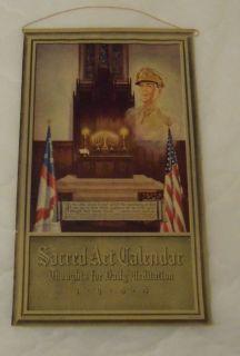 Original 1944 Calendar General Douglas MacArthur