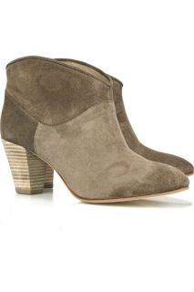 Maje Dicker Isabel Marant Style Suede Ankle Boot Size 7
