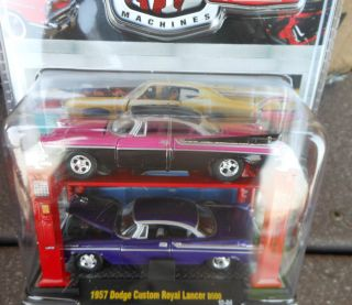 M2 Machines Castline 1957 Dodge Custom Royal Lancer D500 Auto Lift New