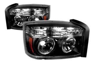 IPCW 05 07 Dodge Dakota Halo Projector Headlights, Black Truck Lights