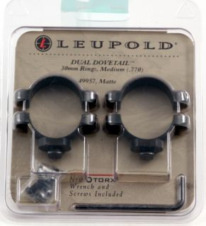 Leupold Dual Dovetail 30mm Rifle Scope Rings