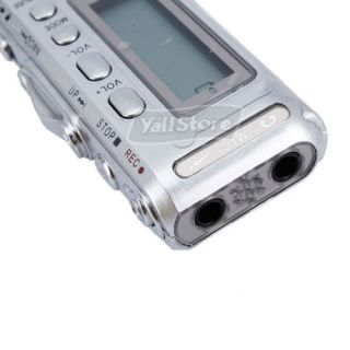 Pro 2GB USB Digital Voice Recorder  Player Dictaphone Silver