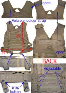 Tactical Military Cross Draw Vest with Pistol Belt Black