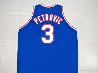 Drazen Petrovic Tune Squad Space Jam Jersey Blue Movie Toon New Any