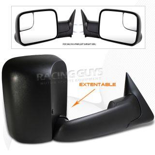 98 99 01 Dodge RAM 2500 3500 Manual Towing Mirrors Pair