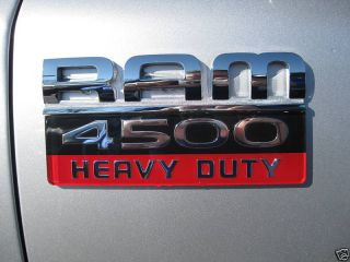 Dodge RAM 4500 Heavy Duty Emblem Badge Decal Mopar
