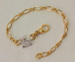 Bracelets Bear Charm 18K Gold 750 Italian Jewelry Dodo