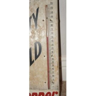 Genuine Vintage Drink Dr Pepper Thermometer Sign Frosty Cold Scarce