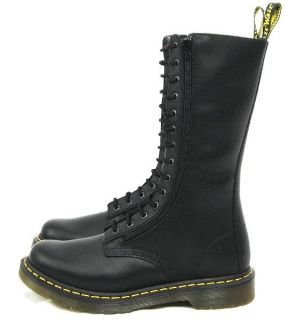 Dr Martens Doctor Martin 9733Z 14 Eye Twin Zip Boots Black Size UK 4