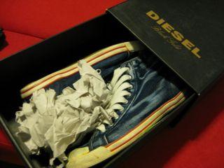 diesel black gold denim sneakers
