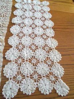 Lot of Vintage Hand Crochet Lace Dresser Scarf Doilies
