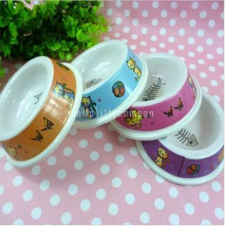 Picture Graphics Pet Puppy Cat Dog Food Dish Melamine Bowl