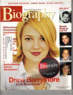 Drew Barrymore Biography Magazine 9 01 Heather Graham James Dean