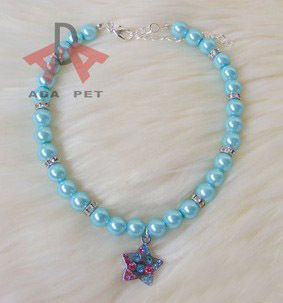 Pendant Pearl Crystal Dog Cat Necklace Pet Collar Dog Jewelry