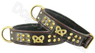 new with tags brown bridle leather dog collar this fabulous collar