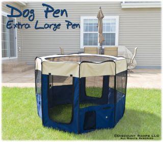 PACK N PLAY DOG PLAYPEN KENNEL PET PEN CRATE XL (CL PET PEN BL XL