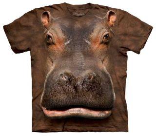Hippo Head Face Tee T Shirt Zoo Hippopotamus Animal Adult Small The