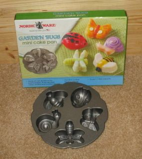 Garden Bugs Cake Pan EUC Lady Bug Butterfly Bee Dragonfly Etc