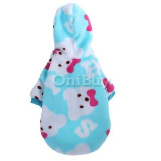 Pet Dog Pajamas Hoodie Coat Clothes Appreal New s Blue